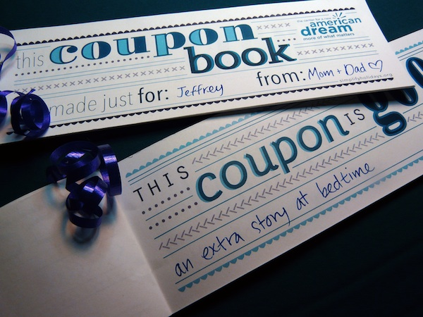 Printable family coupon book