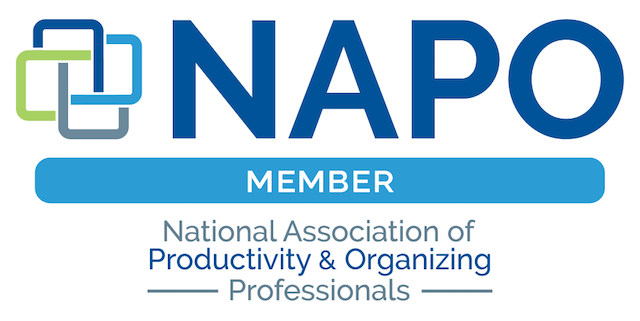 We are a member of the National Association of Productivity and Organizing Professionals